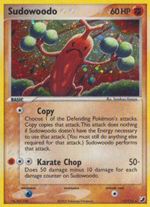 Pokemon EX Unseen Forces Rare Holo Sudowoodo #15