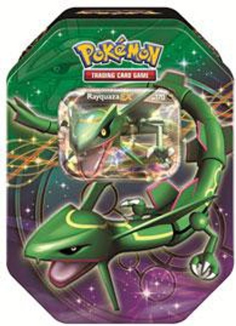 Pokemon Trading Card Game 2012 Black & White Legendary EX Rayquaza Tin Set [4 Booster Packs & Promo Card]