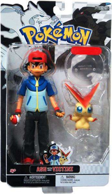 Pokemon Black & White Trainer Figures Ash with Victini Exclusive Action Figure
