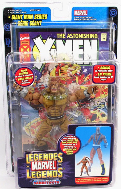 Marvel Legends Giant Man Build A Figure Age of Apocalypse Sabretooth Exclusive Action Figure