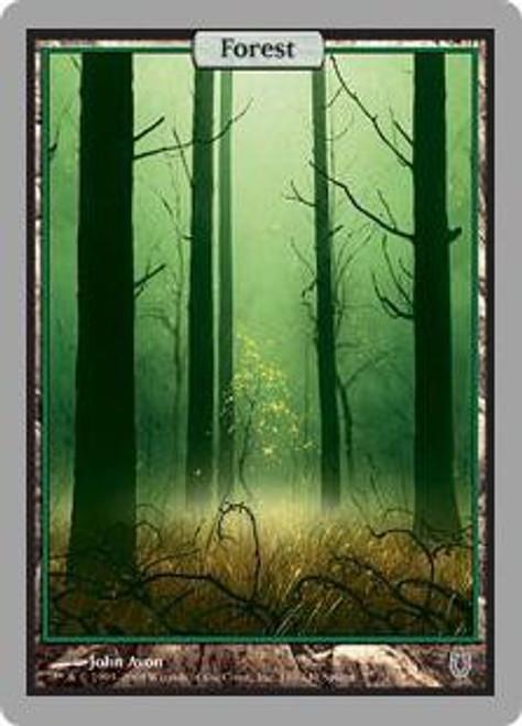 MtG Unhinged Basic Land Foil Forest #140