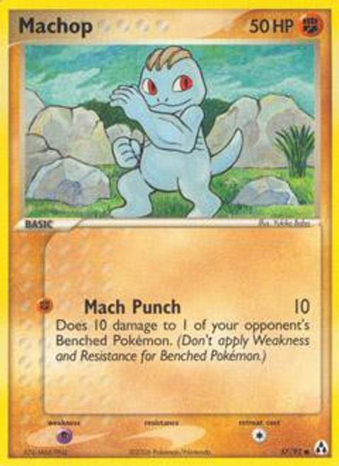 Pokemon EX Legend Maker Common Machop #57