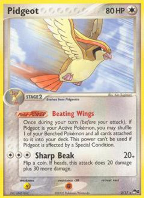 Pokemon Trading Card Game Organized Play Series 2 Rare Pidgeot #2