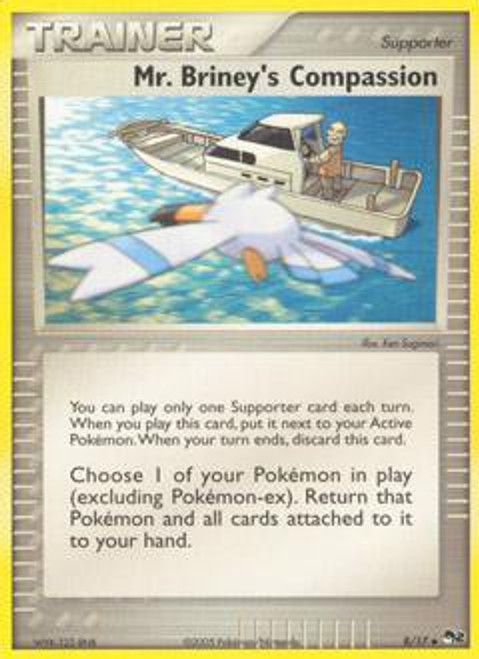 Pokemon Trading Card Game Organized Play Series 2 Uncommon Mr. Briney's Compassion #8