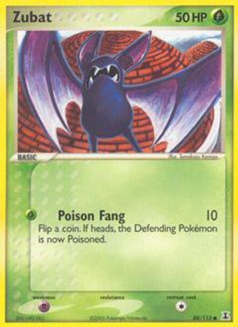 Pokemon EX Delta Species Common Zubat #88