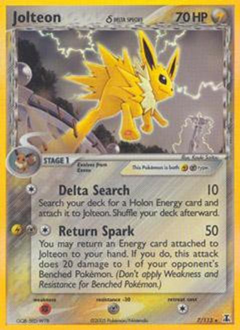 Pokemon EX Delta Species Rare Holo Jolteon #7 [Delta Species]