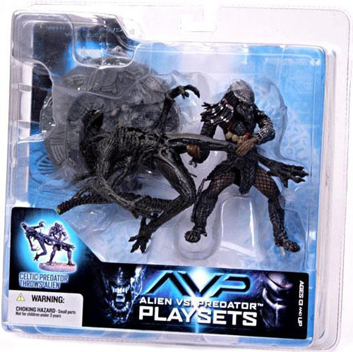 McFarlane Toys Alien vs Predator Alien vs. Predator Movie Playsets Celtic Predator Throws Alien Action Figure Set
