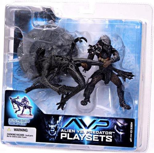 McFarlane Toys Alien vs Predator Alien vs. Predator Movie Playsets Celtic Predator Throws Alien Action Figure Set
