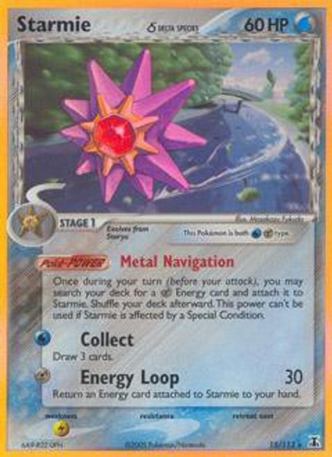 Pokemon EX Delta Species Rare Holo Starmie #15 [Delta Species]