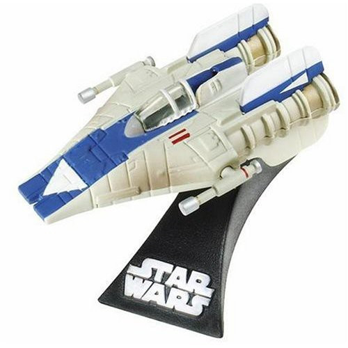 Star Wars Expanded Universe Titanium Series 2006 A-Wing Fighter Diecast Vehicle [Blue Trim]