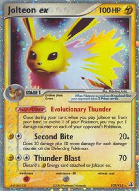 Pokemon Delta Species Ultra Rare Jolteon ex #109