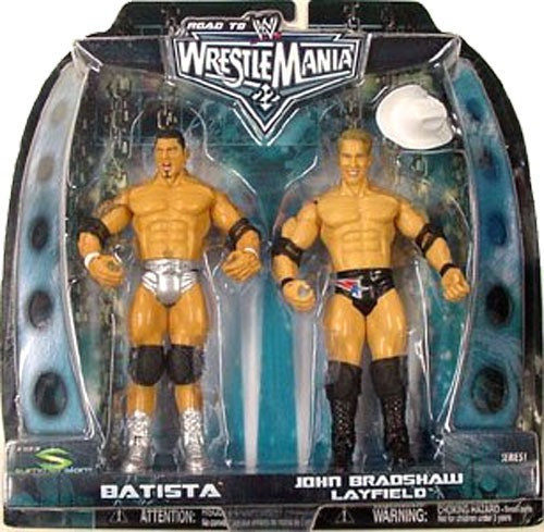 WWE Wrestling Road to WrestleMania 22 Series 1 Batista vs. JBL Action Figure 2-Pack
