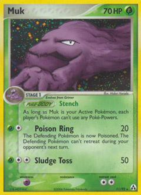 Pokemon EX Legend Maker Rare Holo Muk #11