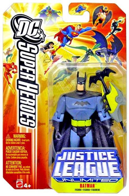 DC Justice League Unlimited Super Heroes Batman Action Figure [Batarang Yellow Card]