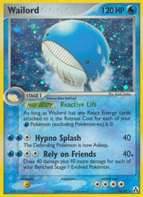 Pokemon EX Legend Maker Rare Holo Wailord #14
