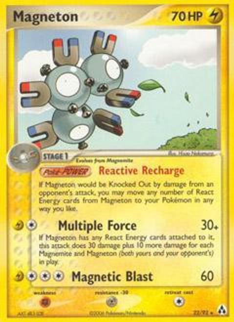 Pokemon EX Legend Maker Rare Magneton #22