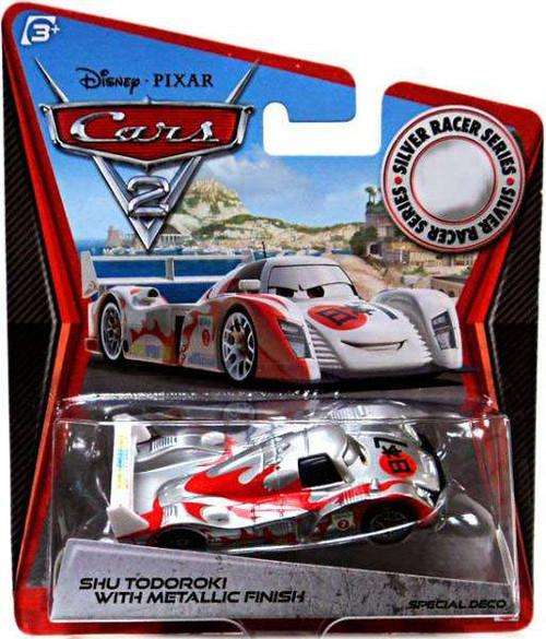 Disney / Pixar Cars Cars 2 Silver Racer Series Shu Todoroki with Metallic Finish Exclusive Diecast Car