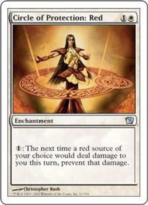 MtG 9th Edition Uncommon Circle of Protection: Red #11
