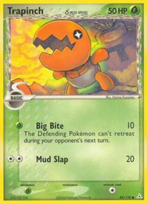 Pokemon EX Holon Phantoms Uncommon Trapinch (Delta Species) #84
