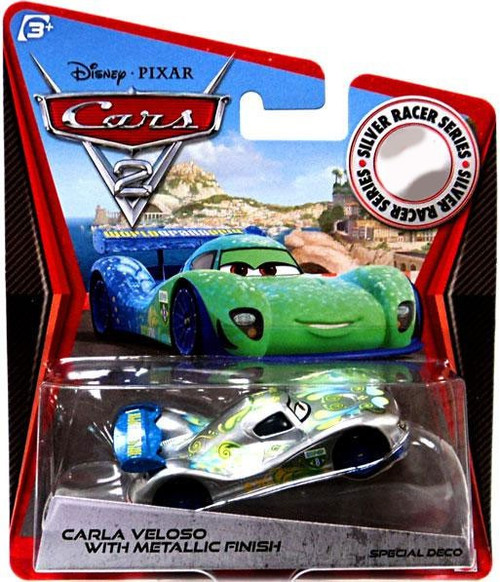 Disney / Pixar Cars Cars 2 Silver Racer Series Carla Veloso with Metallic Finish Exclusive Diecast Car