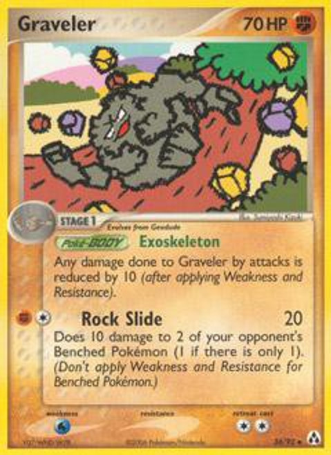 Pokemon EX Legend Maker Uncommon Graveler #34