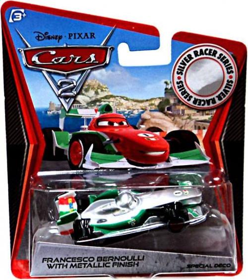 Disney / Pixar Cars Cars 2 Silver Racer Series Francesco Bernoulli with Metallic Finish Exclusive Diecast Car