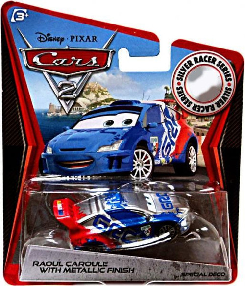 Disney / Pixar Cars Cars 2 Silver Racer Series Raoul Caroule with Metallic Finish Exclusive Diecast Car