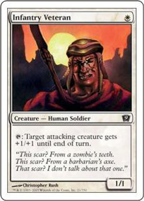 MtG 9th Edition Common Infantry Veteran #21