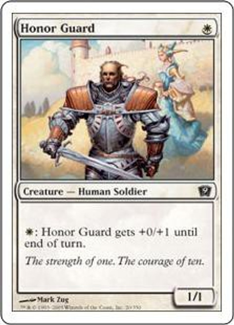 MtG 9th Edition Common Honor Guard #20