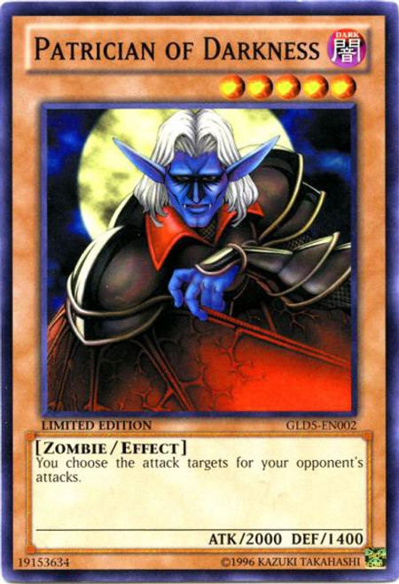 YuGiOh Gold Series 5: Haunted Mine Common Patrician of Darkness GLD5-EN002