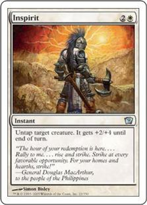 MtG 9th Edition Uncommon Inspirit #22