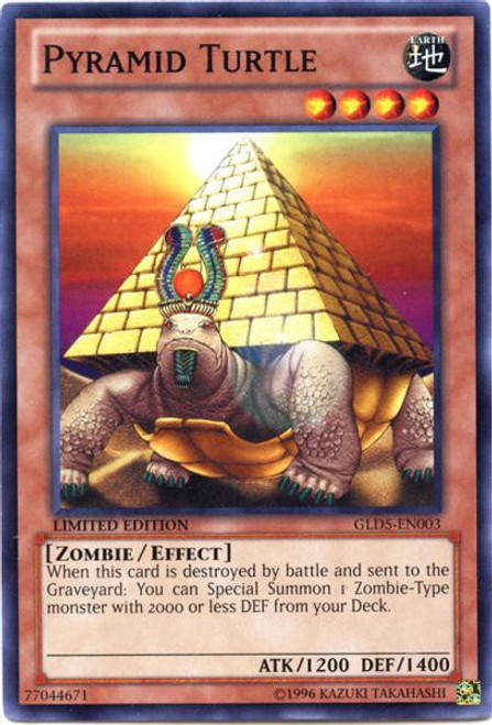 YuGiOh Gold Series 5: Haunted Mine Common Pyramid Turtle GLD5-EN003