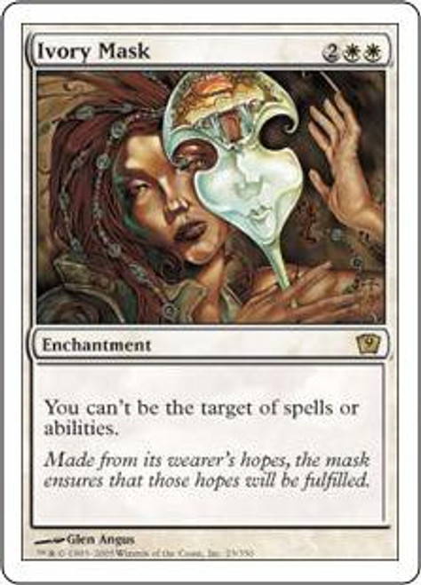 MtG 9th Edition Rare Ivory Mask #23