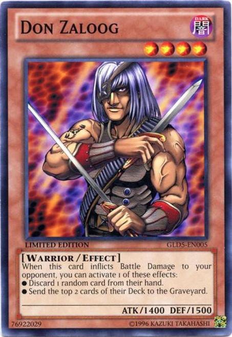 YuGiOh Gold Series 5: Haunted Mine Common Don Zaloog GLD5-EN005