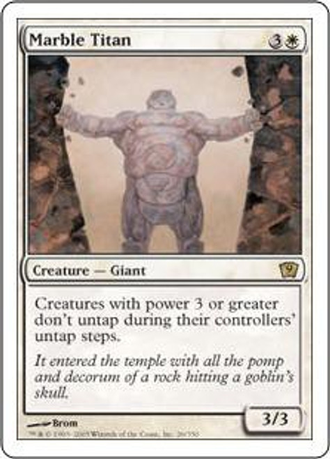 MtG 9th Edition Rare Marble Titan #26