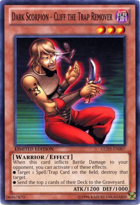 YuGiOh Gold Series 5: Haunted Mine Common Dark Scorpion - Cliff the Trap Remover GLD5-EN007