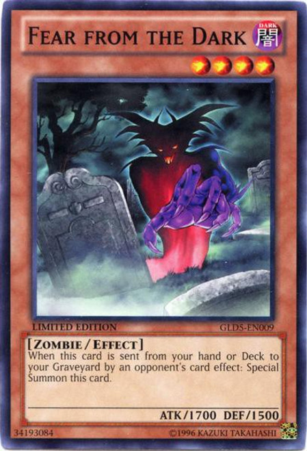 YuGiOh Gold Series 5: Haunted Mine Common Fear from the Dark GLD5-EN009