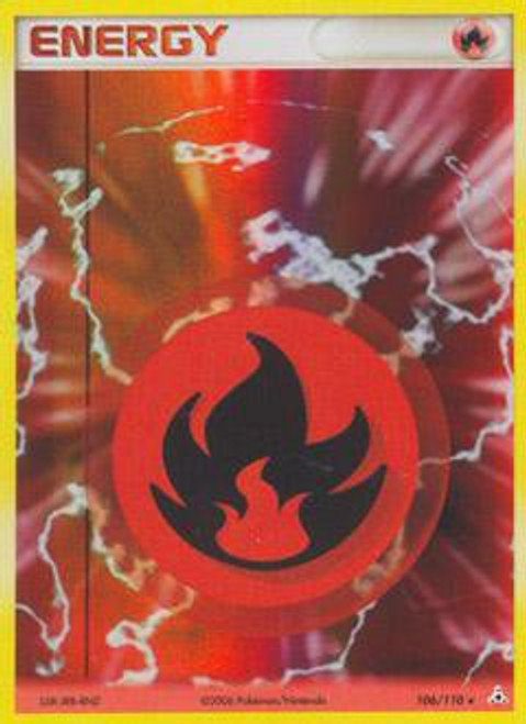 Pokemon EX Holon Phantoms Rare Holo Fire Energy #106