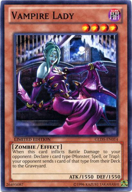 YuGiOh Gold Series 5: Haunted Mine Common Vampire Lady GLD5-EN014