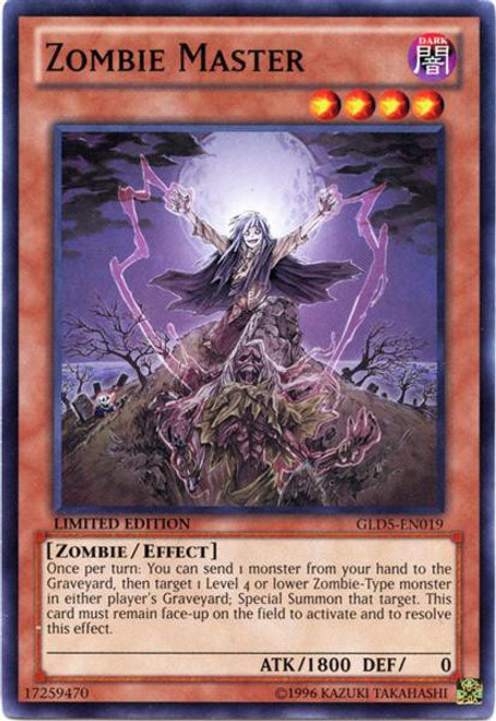 YuGiOh Gold Series 5: Haunted Mine Common Zombie Master GLD5-EN019
