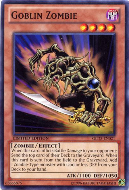 YuGiOh Gold Series 5: Haunted Mine Common Goblin Zombie GLD5-EN021