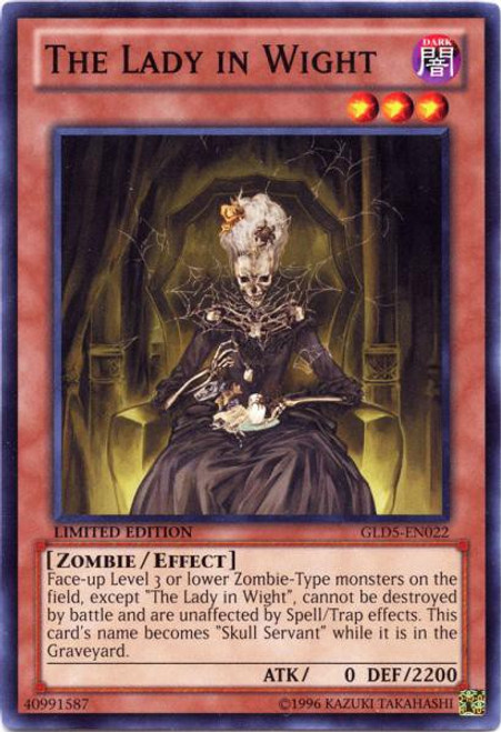 YuGiOh Gold Series 5: Haunted Mine Common The Lady in Wight GLD5-EN022
