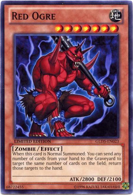 YuGiOh Gold Series 5: Haunted Mine Common Red Ogre GLD5-EN023