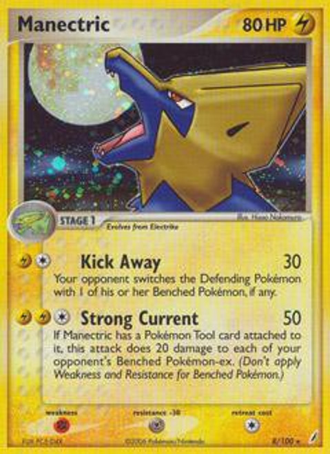 Pokemon EX Crystal Guardians Rare Manectric #8