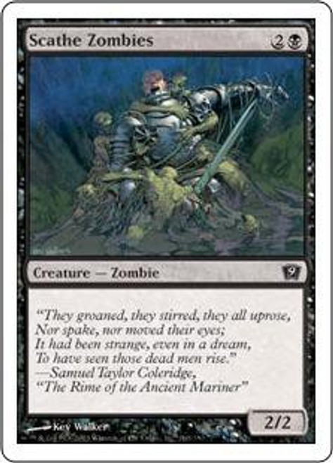 MtG 9th Edition Common Scathe Zombies #160