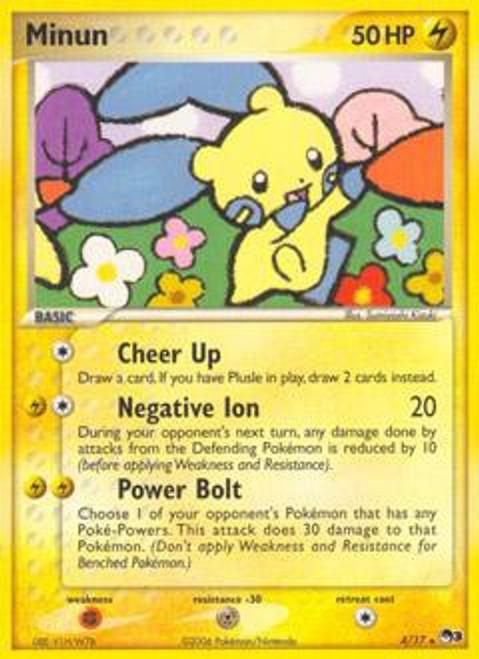 Pokemon Trading Card Game Organized Play Series 3 Rare Minun #4