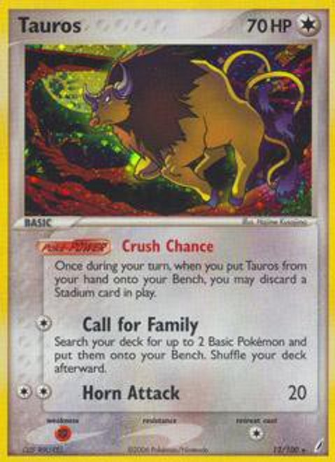 Pokemon EX Crystal Guardians Rare Tauros #12