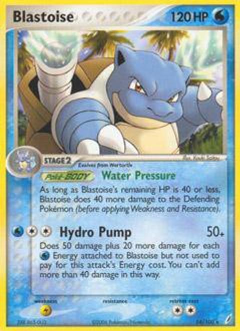 Pokemon EX Crystal Guardians Rare Blastoise #14