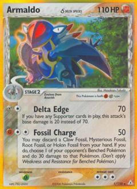 Pokemon EX Holon Phantoms Rare Holo Armaldo [Delta Species] #1