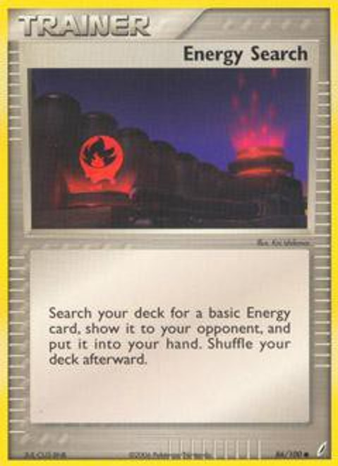 Pokemon EX Crystal Guardians Common Energy Search #86